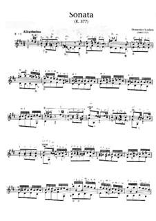 Sonate Nr.263 in h-Moll, K.377 L.263 P.245: Für Gitarre by Domenico Scarlatti