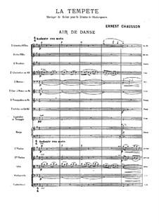 La tempête, Op.18: Vollpartitur by Ernest Chausson