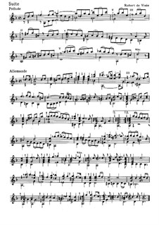Suite für Gitarre in d-Moll: Suite für Gitarre in d-Moll by Robert de Visée