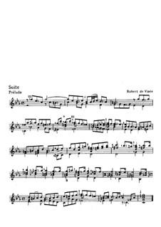 Suite für Gitarre in c-Moll: Suite für Gitarre in c-Moll by Robert de Visée