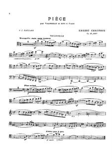 Stück für Cello (oder Viola) und Klavier, Op.39: Partitur, Solostimmen by Ernest Chausson