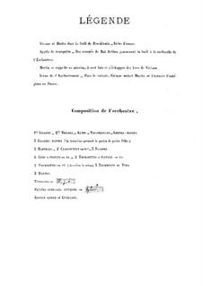 Viviane. Symphonische Poem, Op.5: Viviane. Symphonische Poem by Ernest Chausson