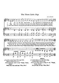 The Three Little Pigs: Für Stimme und Klavier by Alfred Scott Gatty
