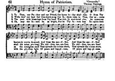 Hymn of Patriotism: Hymn of Patriotism by Thomas Hastings