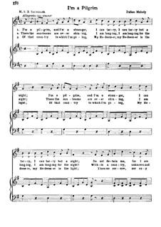 I'm a Pilgrim: Für Stimme und Klavier by folklore
