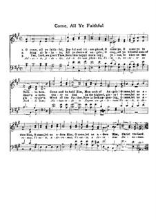 Herbei o ihr Gläubigen: Für Chor by John Francis Wade