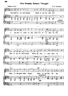 One Sweetly Solemn Thought: Für Stimme und Klavier by Robert Steele Ambrose