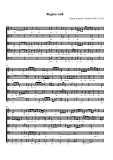 Regina Coeli: Für gemischten Chor by Tomás Luis de Victoria