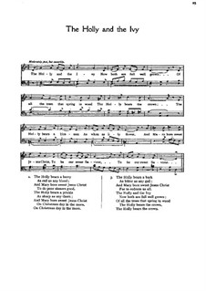 The Holly and the Ivy, for Mixed Choir: Singpartitur by folklore