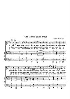The Three Sailor Boys: The Three Sailor Boys by Theo Marzials
