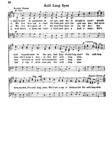 Auld Lang Syne: Für Chor by Unknown (works before 1850)