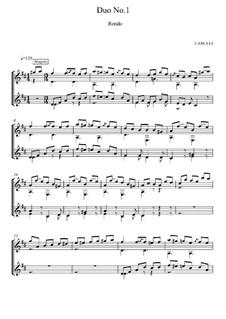 Sechs kleine Duette für zwei Gitarre, Op.34: Duett Nr.1, Rondo by Ferdinando Carulli