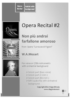 Non più andrai (Now no More): With audiofile of orchestral accompaniment by Wolfgang Amadeus Mozart