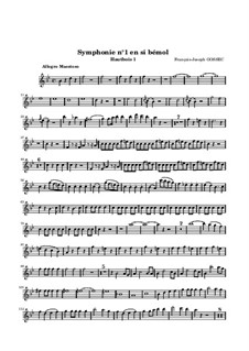 Sinfonie Nr.1 in B-Dur: Oboenstimme I by François Joseph Gossec