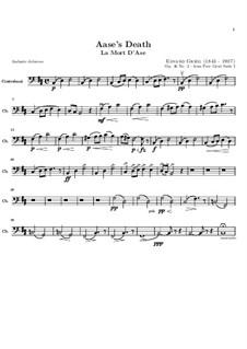 Suite Nr.1. Aases Tod, Op.46 No.2: Kontrabassstimme by Edvard Grieg