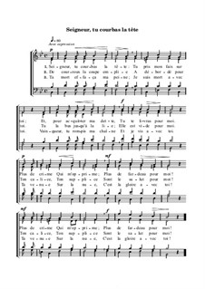 Seigneur, tu courbas la tête: Seigneur, tu courbas la tête by Orlando di Lasso