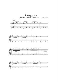 Vierundzwanzig Übungen, Op.777: Übung Nr.3 by Carl Czerny