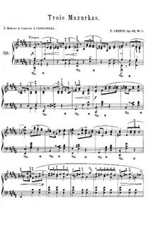 Mazurkas, Op.63: Vollsammlung by Frédéric Chopin