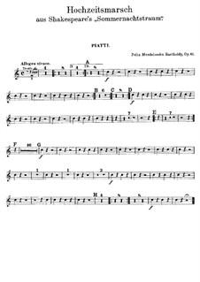 Hochzeitsmarsch: Schlagzeugstimmen by Felix Mendelssohn-Bartholdy