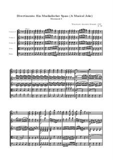 Ein Musikalischer Spass, K.522: Teil I by Wolfgang Amadeus Mozart