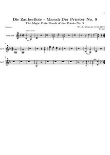Marsch der Priester: Hornstimme by Wolfgang Amadeus Mozart