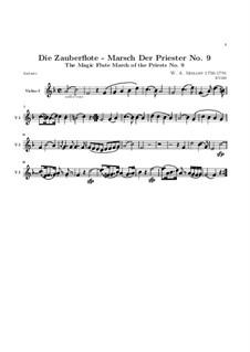 Marsch der Priester: Violinstimme I by Wolfgang Amadeus Mozart