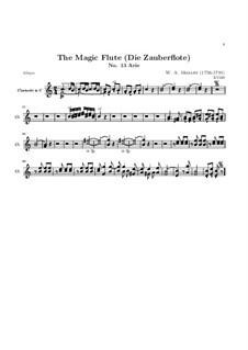 Alles fühlt der Liebe Freuden: Klarinettenstimme by Wolfgang Amadeus Mozart