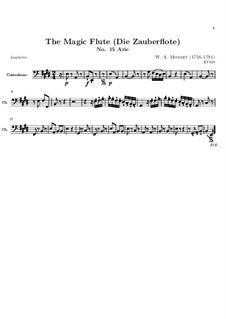 In diesen heil'gen Hallen: Kontrabass-Stimme by Wolfgang Amadeus Mozart