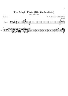 In diesen heil'gen Hallen: Fagottstimme by Wolfgang Amadeus Mozart