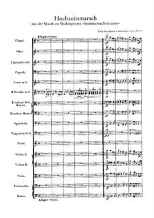 Hochzeitsmarsch: Vollpartitur by Felix Mendelssohn-Bartholdy