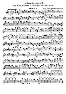 Hochzeitsmarsch: Flötenstimmen by Felix Mendelssohn-Bartholdy