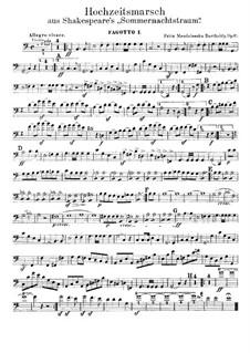 Hochzeitsmarsch: Fagottstimmen by Felix Mendelssohn-Bartholdy