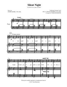 Stille Nacht (Noten zum Download): Für Chor und Klavier by Franz Xaver Gruber