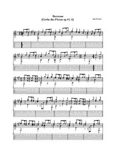 Gerbe des fleurs, Op.41: Nr.4 Berceuse (Wiegenlied) by José Ferrer