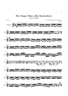Alles fühlt der Liebe Freuden: Violinstimme II by Wolfgang Amadeus Mozart