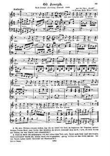 Joseph: Ich war Jüngling noch an Jahren, für Stimme und Klavier by Étienne Méhul