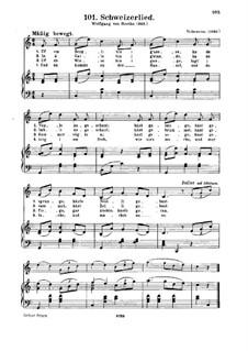 Schweizerlied: Schweizerlied by folklore