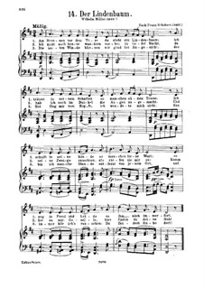 Nr.5 Der Lindenbaum: Klavierauszug mit Singstimmen by Franz Schubert