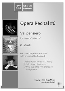 Va' Pensiero (Chorus of the Hebrew Slaves): Sheet music and audiofile of orchestral accompaniment by Giuseppe Verdi