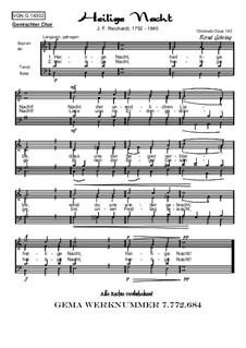 Weihnachtliches, Op.143: Nr.2 Heilige Nacht (FCH) by Johann Friedrich Reichardt