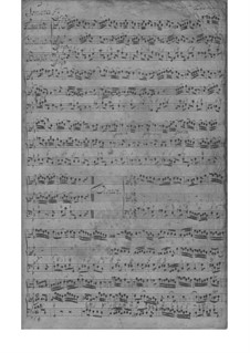 Triosonate für Violine, Flöte und Basso Continuo in c-Moll, TWV 42:c1: Vollpartitur by Georg Philipp Telemann
