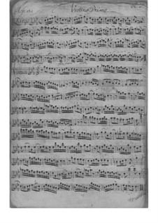 Triosonate für Violine, Flöte und Basso Continuo in c-Moll, TWV 42:c1: Stimmen by Georg Philipp Telemann