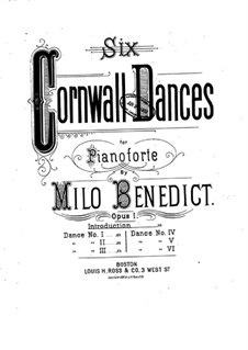 Six Cornwall Dances, Op.1: Introduktion by Milo Ellsworth Benedict