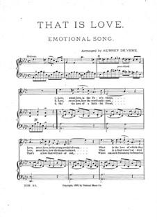 That is Love: Für Stimme und Klavier by Unknown (works before 1850)