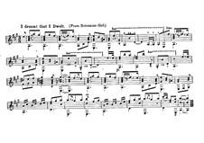 Die Zigeunerin: Akt II, I Dreamt I Dwelt in Marble Halls, für Gitarre by Michael William Balfe