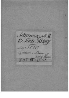 Triosonate für zwei Flöten und Basso Continuo, GraunWV C:XV:82: Triosonate für zwei Flöten und Basso Continuo by Johann Gottlieb Graun