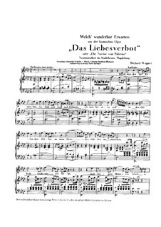 Das Liebesverbot. Arie 'Welch' wunderbar Erwarten', WWV 38: Das Liebesverbot. Arie 'Welch' wunderbar Erwarten' by Richard Wagner