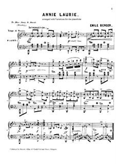Annie Laurie: Für Klavier by folklore