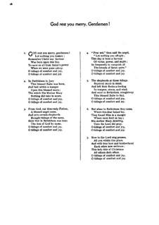God Rest You Merry, Gentlemen: Für gemischten Chor by folklore