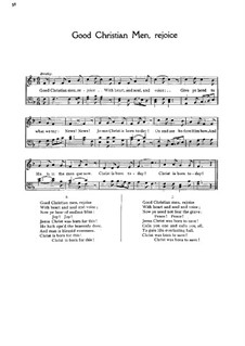 Good Christian Men, Rejoice: Singpartitur by folklore